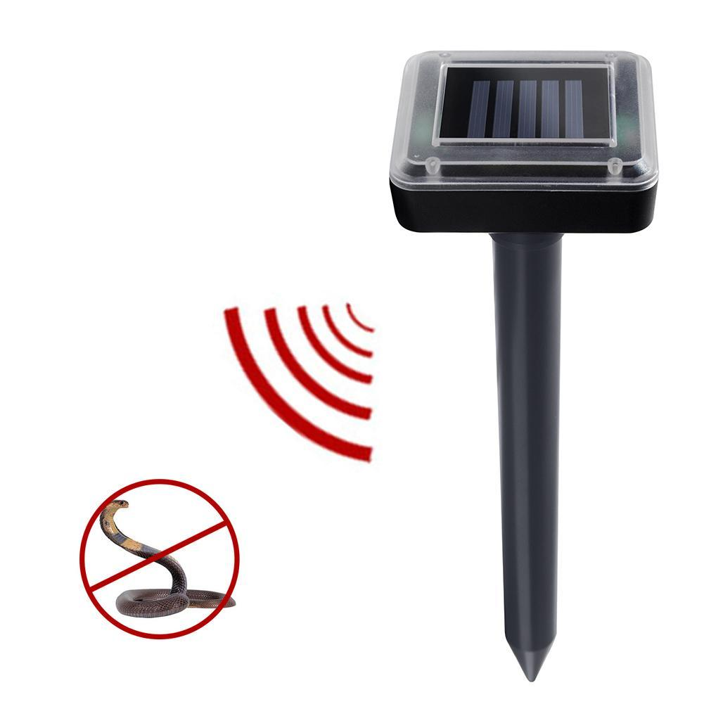 Solar Power Ultrasonic Sonic Mouse Mole Snack Pest Rodent Repeller Repellent Eco-friendly Stocked Outdoor Sun Battery Mini