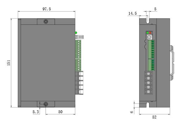 BLD750 mechanical dimension