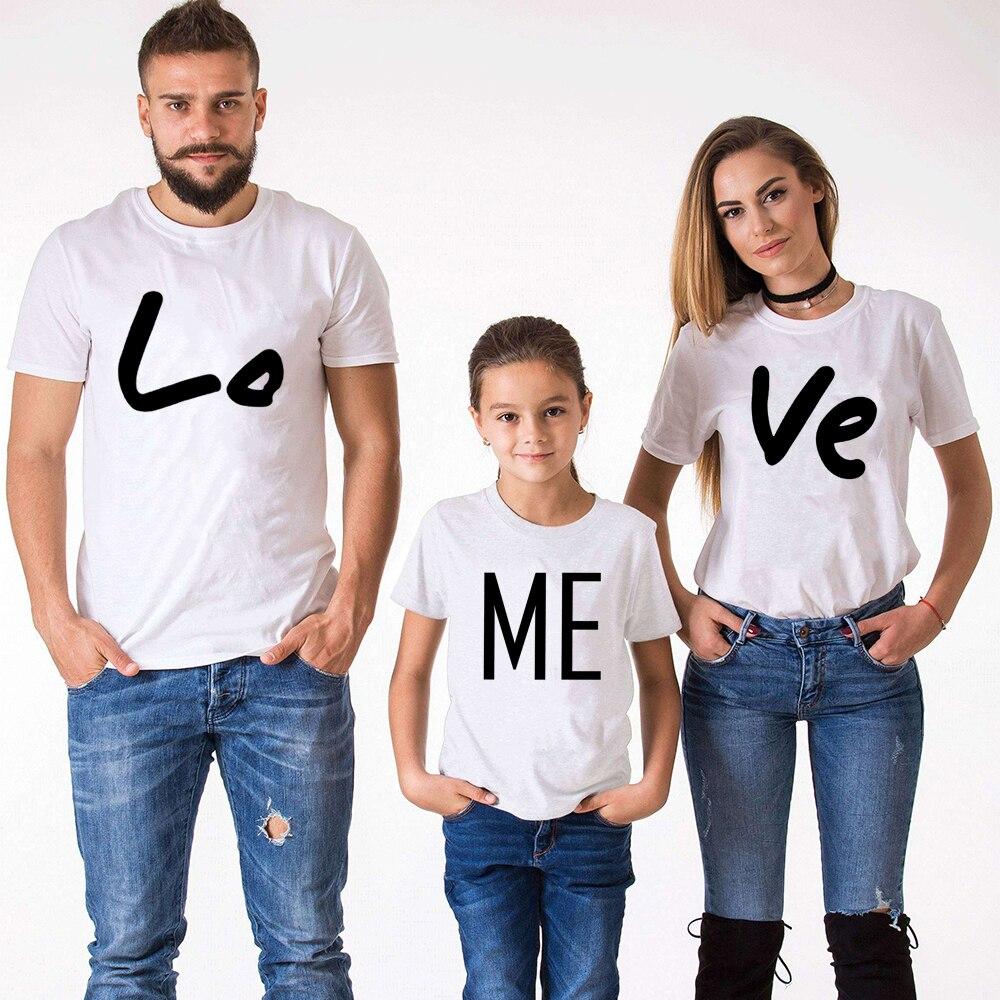 T-shirt pull LOVE ME, vêtements assortis pour la famille, pour maman et garçon, Look de famille