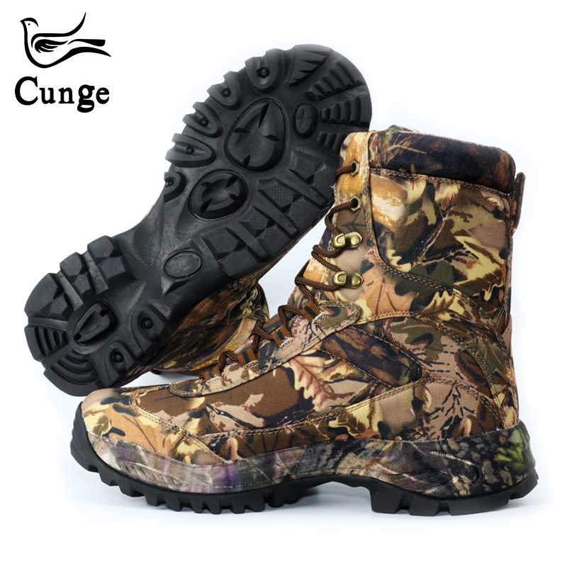 4f68fd3302 CUNGE Outdoor Tactical Sport Men s Shoes For Camping Climbing boots Men  Hiking Boots Mountain Non-