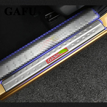 цена на For Nissan Qashqai J11 Door Sill Scuff Plate Guards Door Sills Strip Protector Stickers Car Accessories 2015 2016 2017