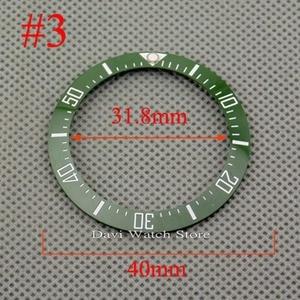 Image 4 - 40mm שחור כחול ירוק לבן קרמיקה bezel fit אוטומטי BLIGER שעון