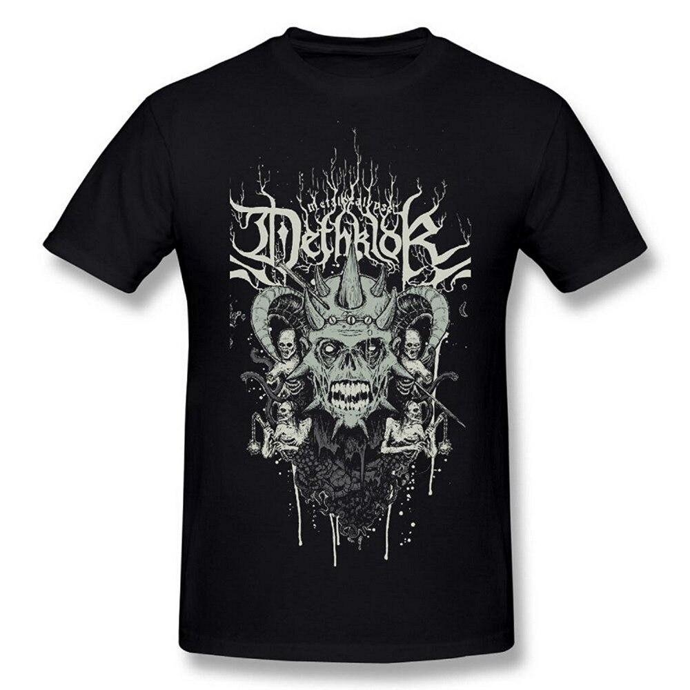 T Shirt Design Basic Top Comfort Soft O-Neck  Dethklok Metalocalypse Short-Sleeve Mens
