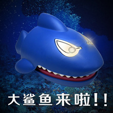 22 x11cm Shark Will Bite Fingers Electric Blue Shark Voice Electric Shark Interesting Children's Educational Toys