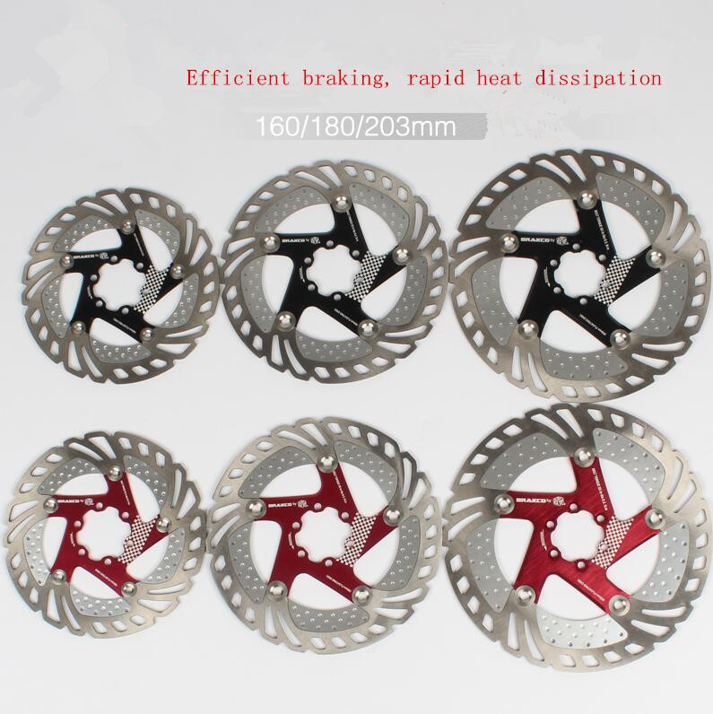 DR 11FA MTB Mountain road bike bicycle floating disc brake rotor 160 180 203mm six hole disc rotors 7075t6 cnc mtb chain ring 110pcd 40 42 44 46 48t mtb bike bicycle crank chainring tooth disc chain ring cr e1 dx5800 110