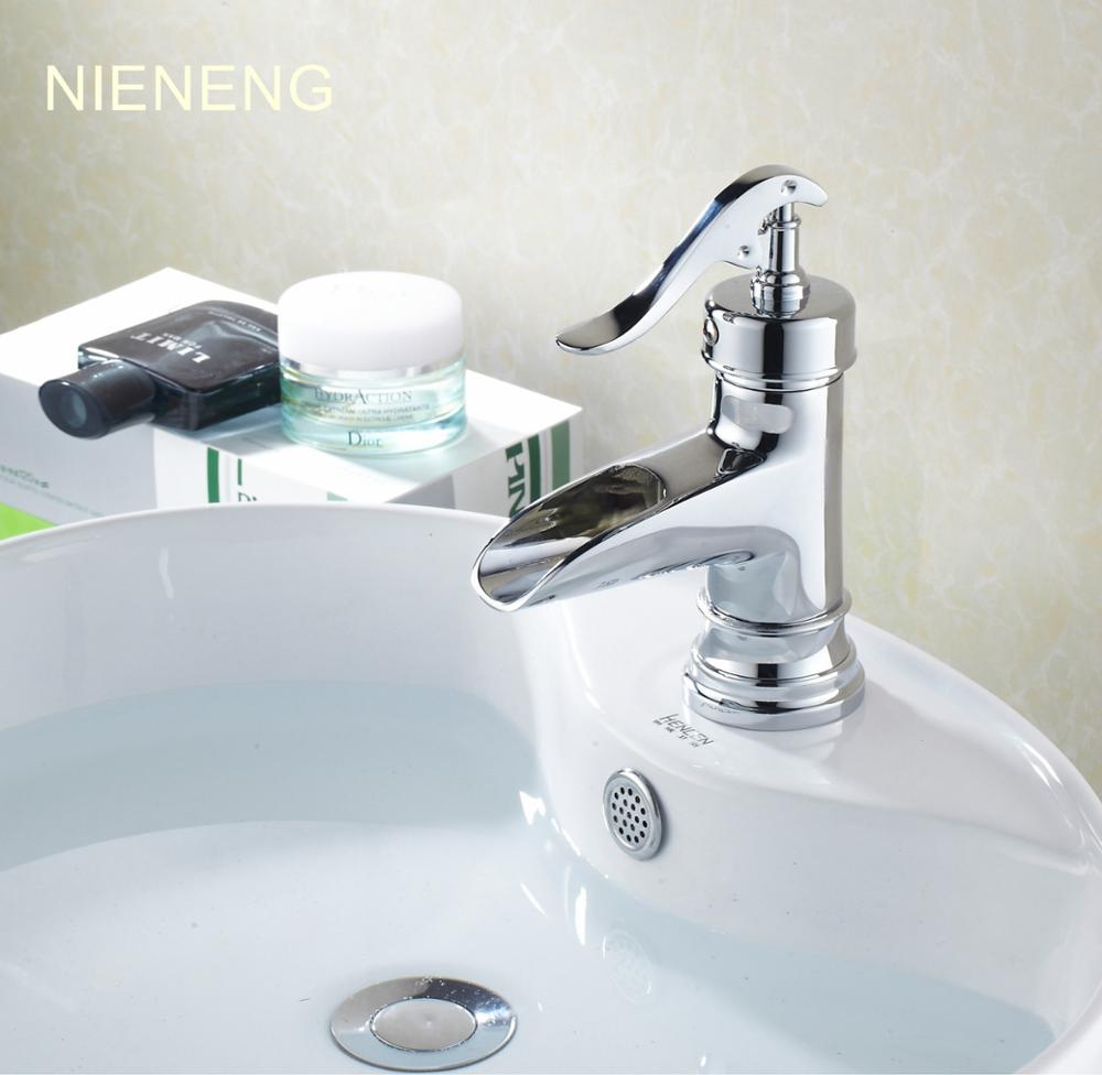 NIENENG basin taps brass faucets sink mixer water for bathroom ...