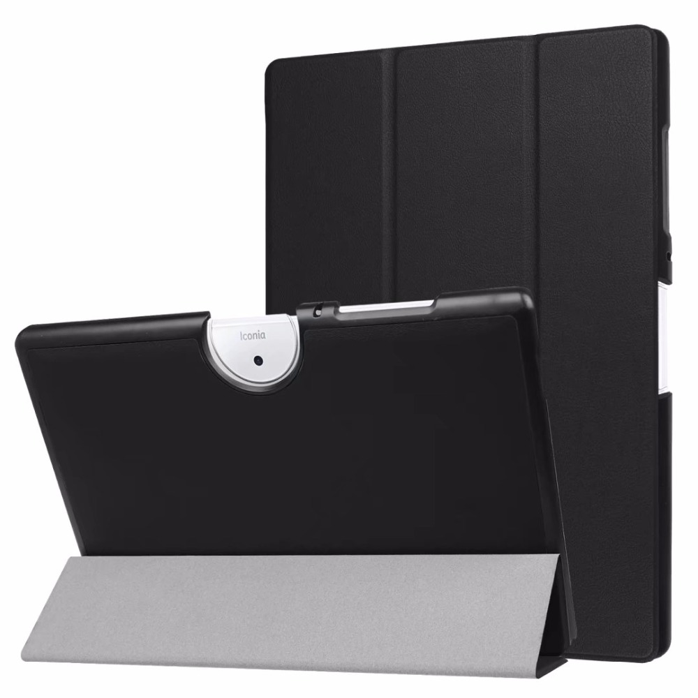 Luxury Ultra Thin Slim Folio Stand Magnetic Leather Case Sleeve Cover For Acer Iconia One 10 B3-A40 B3-A40FHD 2017 10.1 Tablet slim print case for acer iconia tab 10 a3 a40 one 10 b3 a30 10 1 inch tablet pu leather case folding stand cover screen film pen