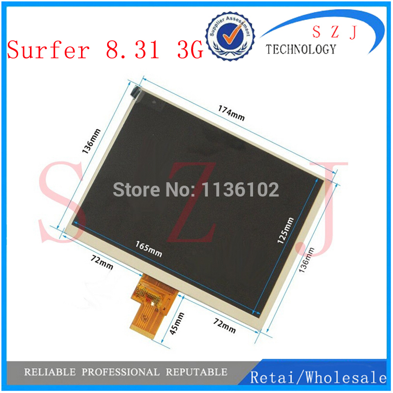 New 8 inch Explay Surfer 8.31 3G TABLET LCD Display Screen Panel Replacement Digital Viewing Frame Free Shipping new 7 inch replacement lcd display screen for oysters t72ms 3g 1024 600 tablet pc free shipping
