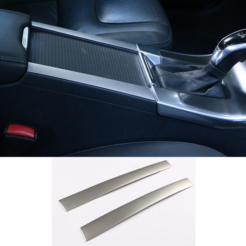 Silver ABS Brand New 2pcs Chrome Cup Drink Holder Armrest Center Console Cover Trim Frame Panel For Volvo XC60 S60 V60