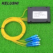 جهاز التفرع البصري الجديد من KELUSHI 1x4 للاتصالات PLC كاسيت SC جهاز متفرع من الألياف البصرية المستوية