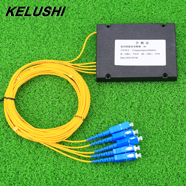 Kelushi新 1 × 4 テレコムplcカセットscコンパクト光スプリッタ平面導波路繊維光学分岐デバイス