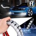 2x COB Carro DRL Driving Fog Light 10 LED Flexível Luz de Circulação Diurna Para Honda/Toyota/Hyundai/VW/Kia forMazda/Buick/Nissan etc
