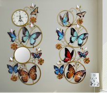 European style wall mural wall ornaments iron fashion 3D butterfly mural creative Home Furnishing wall decorations