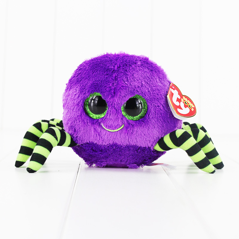 15cm Ty Beanie Boos Big Eyes Plush Toy Doll Purple Spider TY Baby Kids Gift Collection