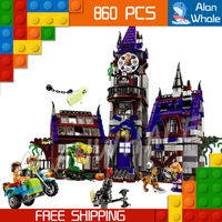 860pcs New Mystery Mansion Scooby Doo Dog Carton 10432 Movie Animal Figure Building Blocks Kit toys Compatible with LegoING