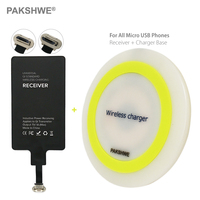 Micro USB Qi Wireless Charger Kit Inductive Transmitter Ti Chip Receiver For Huawei All Micro USB