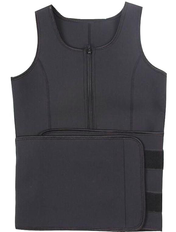 4e4ffd8fb42 Hot Shapers Neoprene Sauna Waist Trainer Vest Workout Shaperwear Slimming  Adjustable Sweat Belt Fajas Body shaper