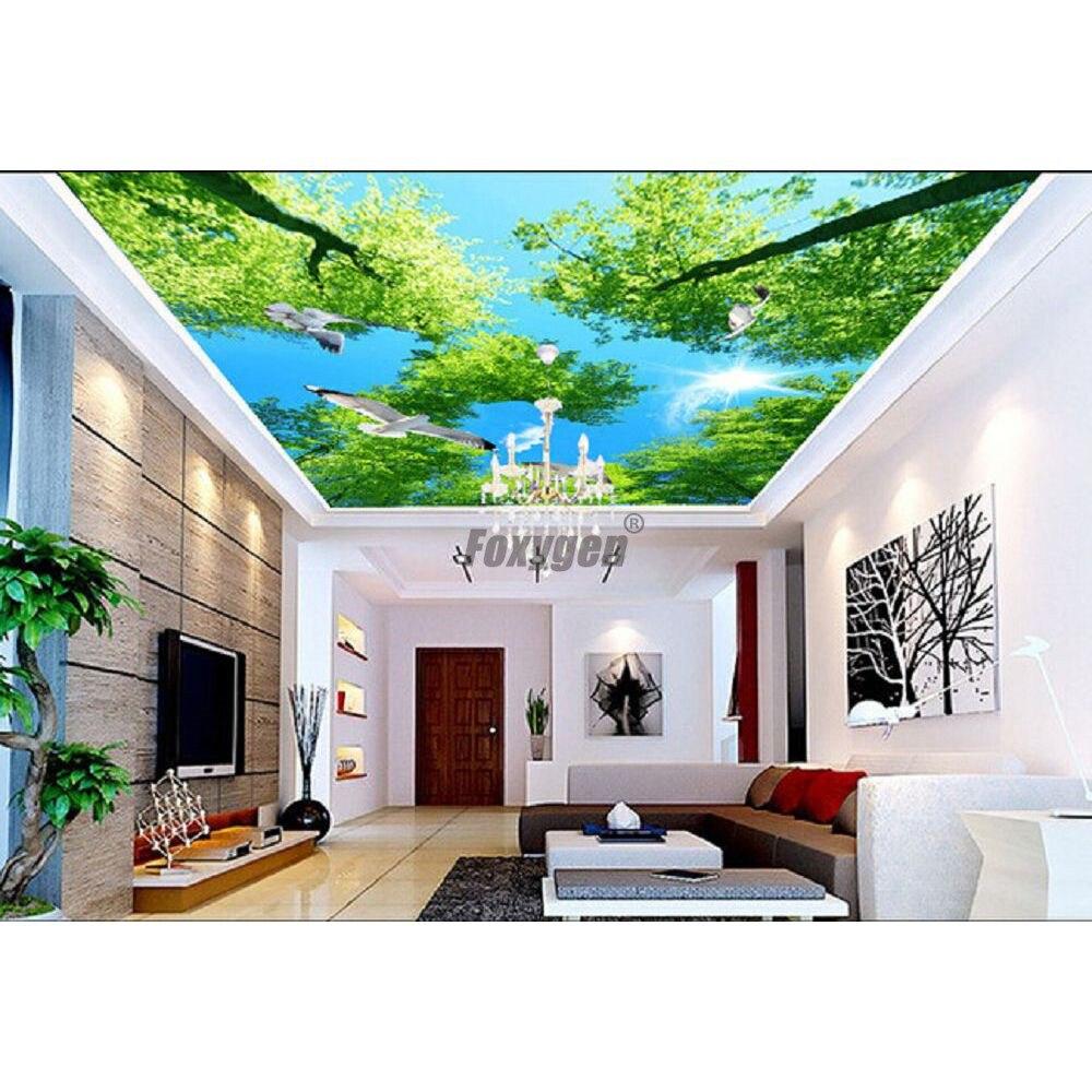 Digital Printed And Uv Printing Living Room Ceiling False Ceiling Blue Sky Stretch Ceiling Pop Design Room Ceiling Living Room Ceiling Designceiling Blue Aliexpress