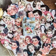 46Pcs/box Modern lovers series Mini Decoration Paper Sticker DIY Scrapbook Notebook Album Stationery Kawaii Girl