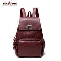 Leather Backpack Really Genuine Sheepskin Women S Backpack Female Fashion Wine Red Blue Black Rucksack Free