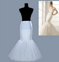 Wedding Accessories Petticoat Vestido Longo Cheap Crinoline Underskirt Hoop Skirt mermaid  Petticoats In Stock