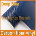 Free Shipping 1.52mx30m High Quality Car Vinyl Wrap 3D Carbon Fiber Vinyl A Lot Colour Stickers Glod Silver  Black  White Blue