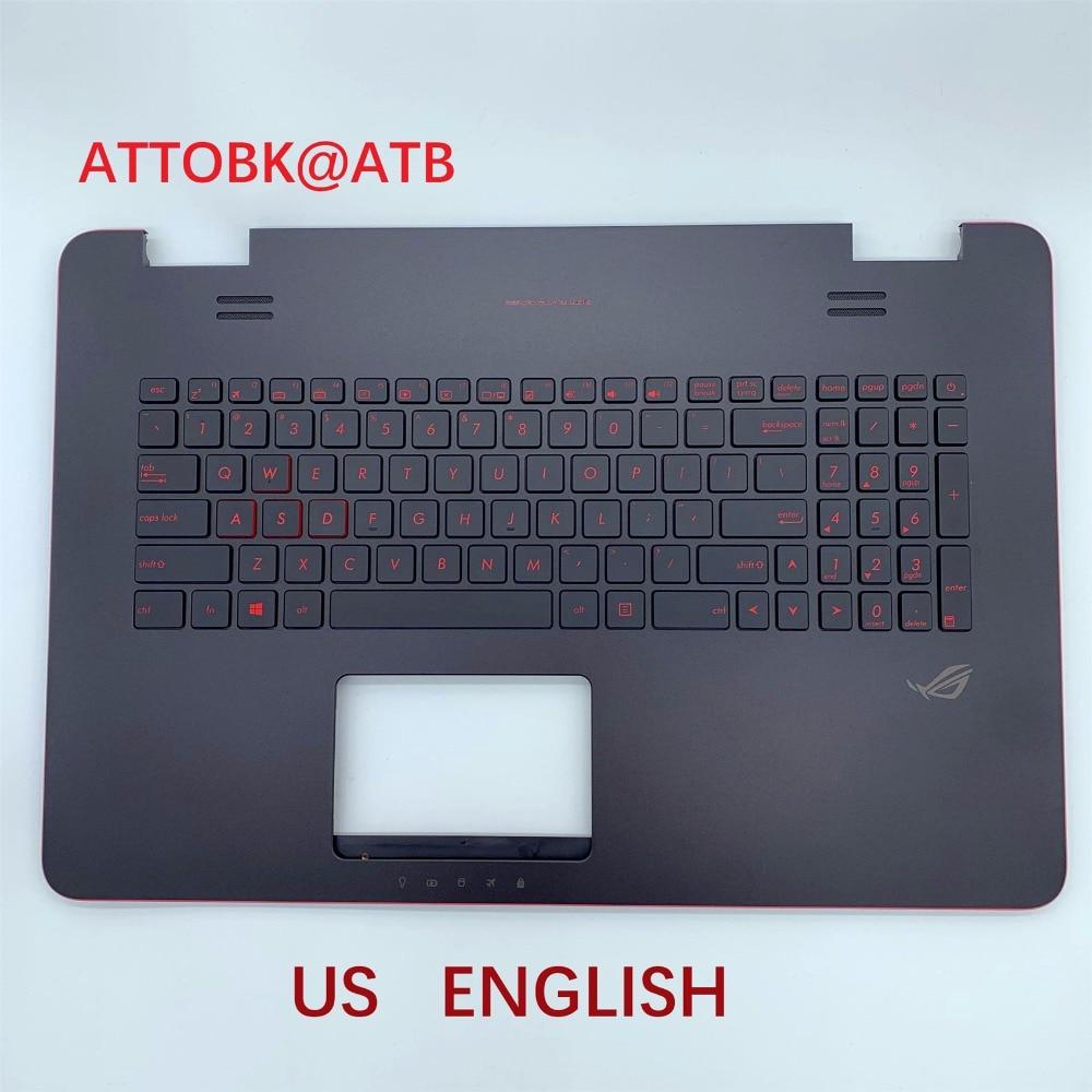 Image 2 - RU US LA AR clavier dordinateur portable standard pour ASUS N751  N751J G771 G771JW GL771JM GL771JW GL771 avec rétro éclairage avec  couvercle CRemplacement Claviers