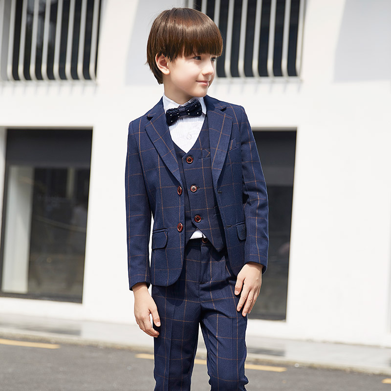 2017 autumn nimble boys suits plaid formal suit for boy prom children england style suit blazers for weddings party kids tuxedos hot sale top quality baby boys spring autumn casual blazers jacket wedding suits for boy formal children clothing kids prom suit