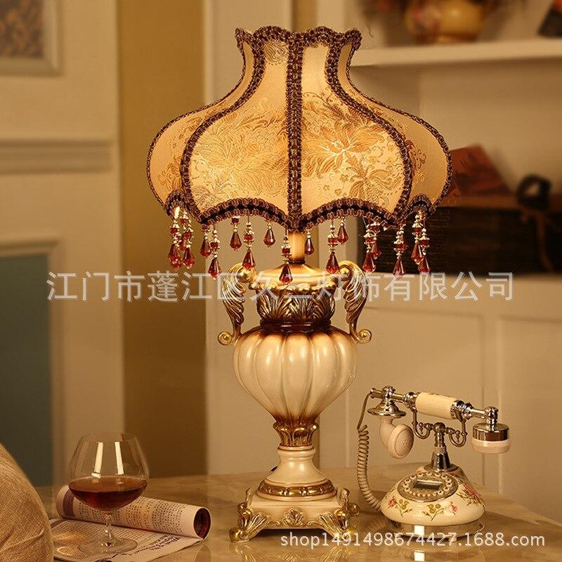 Туда 2018 31x51 см Европейский чашки Форма смолы настольная лампа резьба ночники белый Краски дворец Стиль Таблица лампа