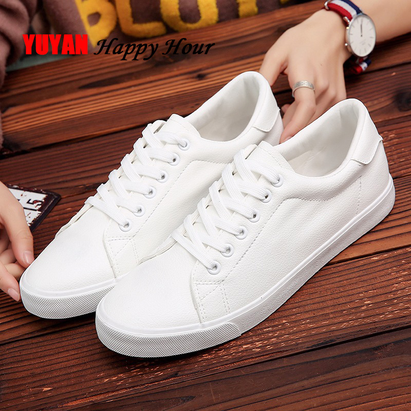 2020 Spring Shoes Men Sneakers Casual Soft Leather Men Shoes Brand Fashion Male White Shoes KA1188