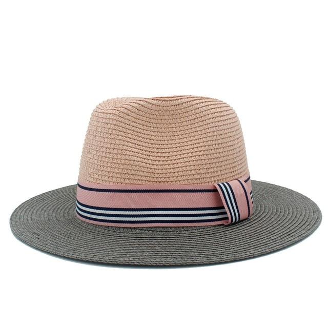 2017 nova Moda senhoras chapéu de sol para as mulheres palha praia chapéu  com aba larga 39dd1dce8f0