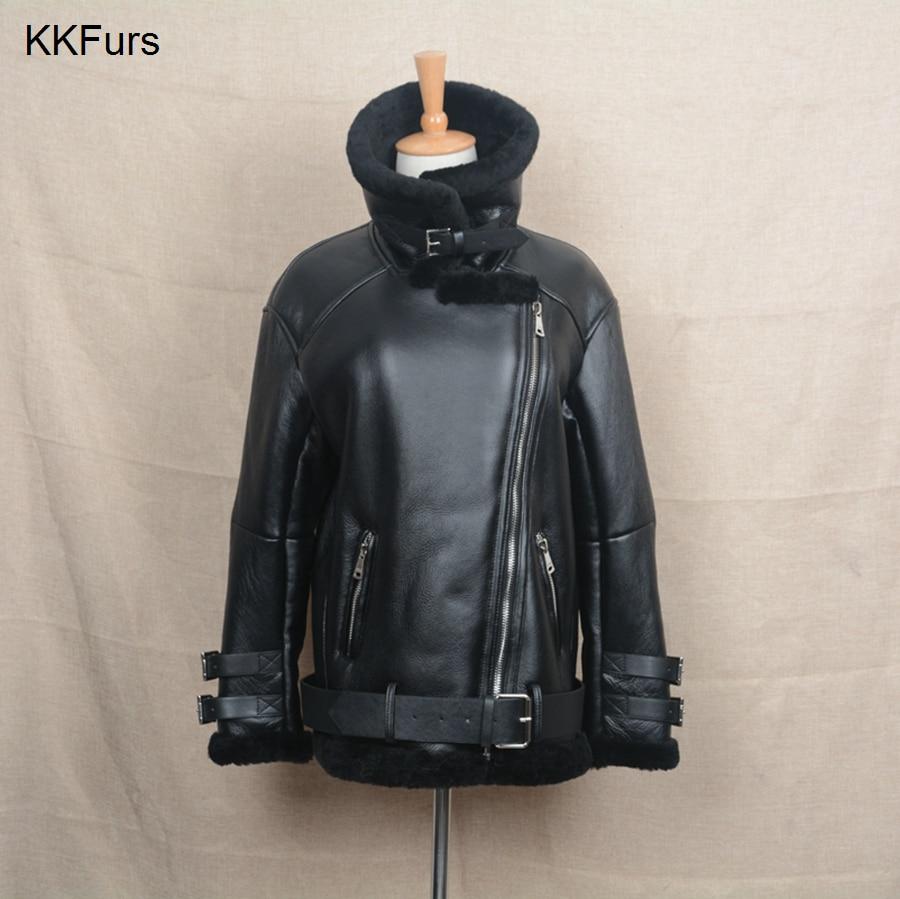 Véritable Punk De La Cuir En Vestes Hommes 2019 Mode Femmes Black Manteau Motards Jkkfurs Vraie S1640 Avec Moto Nouvelle Fourrure ZAqWY1nw7