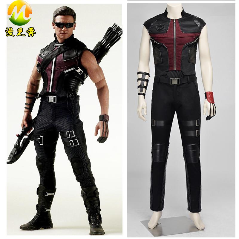 Upgrade Version The Avengers Hawkeye Cosplay Costume for Adults