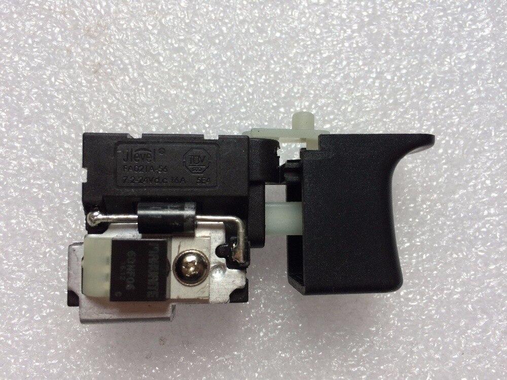 FA021A-56 7.2-24 V FA021A 16A DC Jlevel perceuse électrique interrupteur