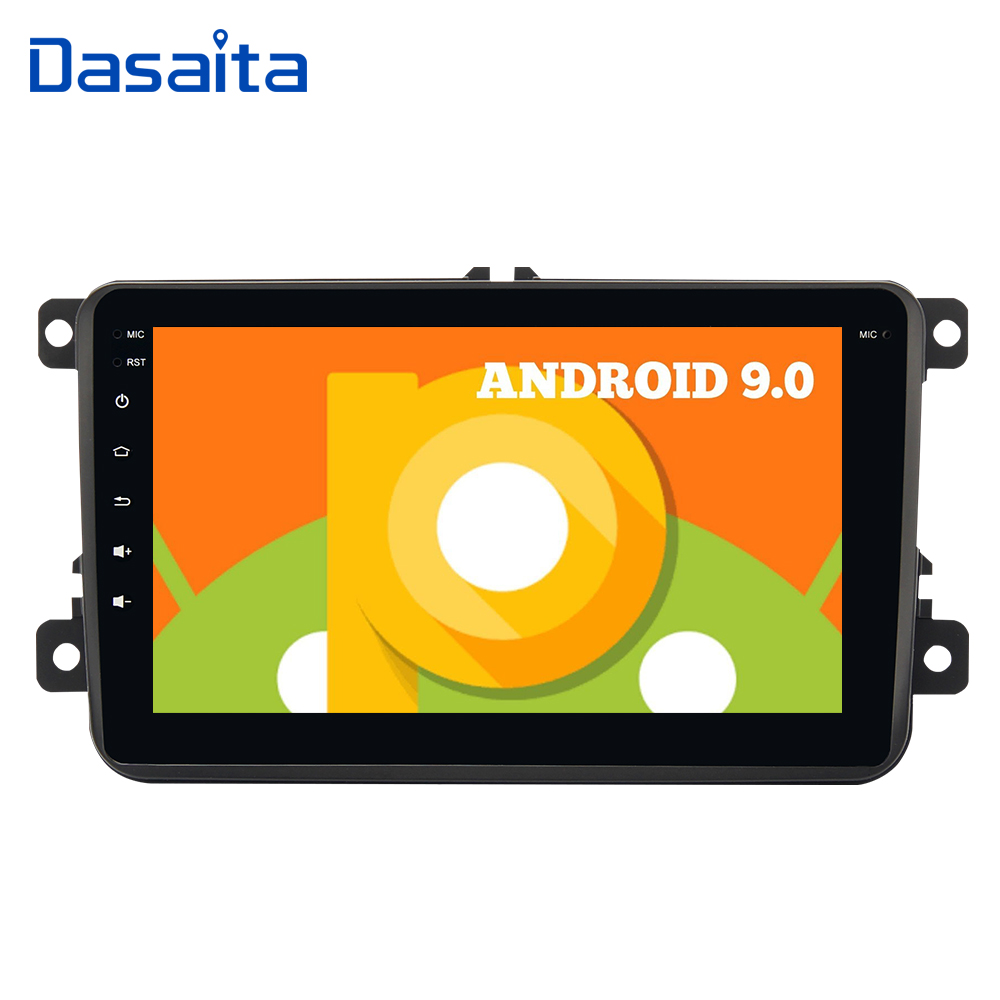 Dasaita Android 9.0 Car 1 din GPS tracker for Seat Leon  Transporter Car Radio Bluetooth 8