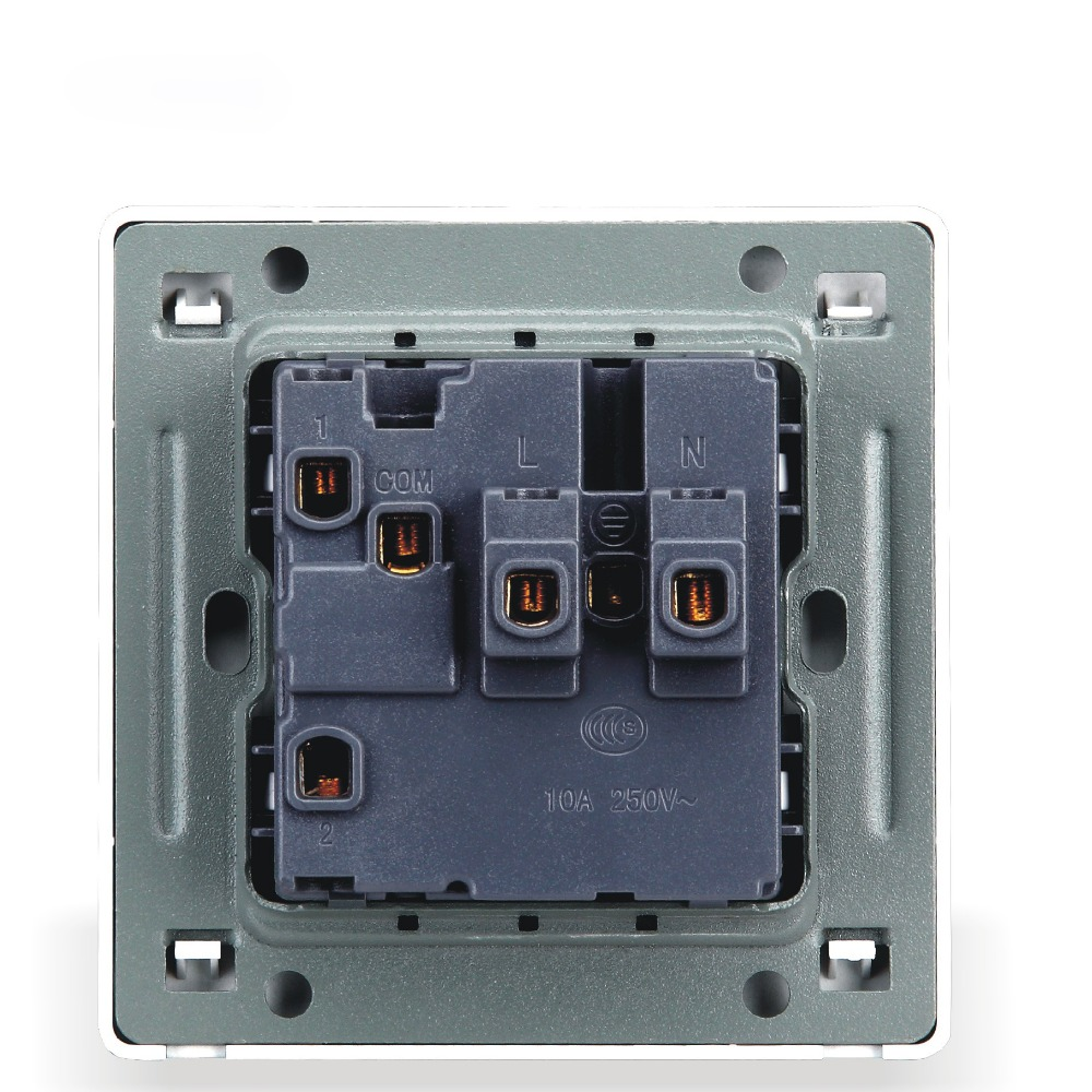 Home Improvement Wall Switch Socket, 86 Types Of Dark White Retro, Five Hole Switch With Socket Panel, PC 220V 10A