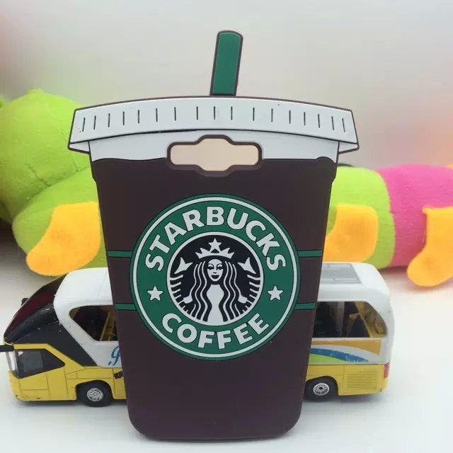 Samsung Galaxy E5 E500 Covers New Cartoon 3D Brown Coffee Cups Starbucks Soft Silicone Rubber Back Phone Cases  -  LONWAY Electronics technology Co. Ltd store