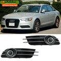 EEMRKE FOR Audi A6 C7 2012 to 2014 COB LED Angel Eyes DRL Driving Light Tagfahrlicht 12V Halogen Bulb H11 55W Fog Lights Lamp