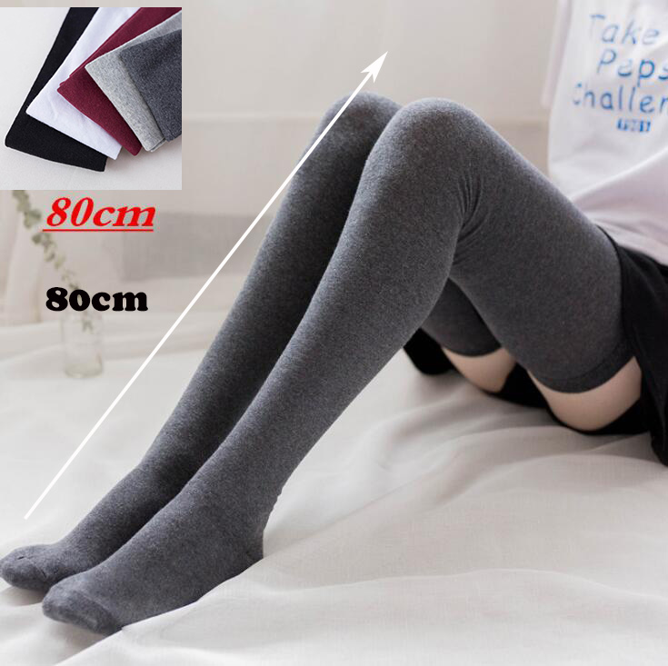 competitive price latest fashion official photos 80CM Fashion Sexy Knee High Socks Women Kawaii NUDE Thigh High Woman  Compression Girls Long Socks Female Over Knee COTTON Socks