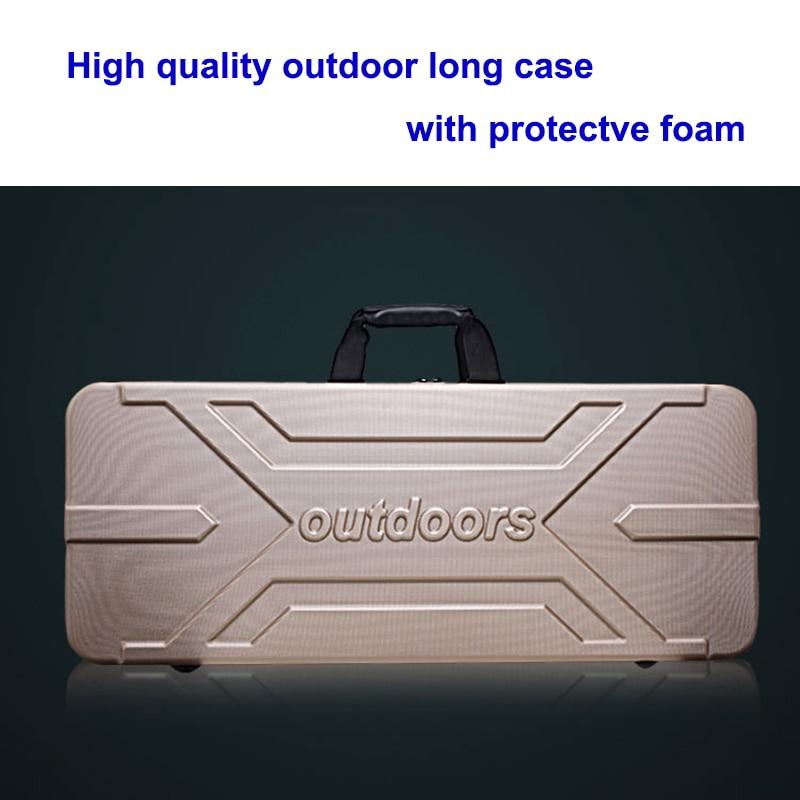 hoge kwaliteit gereedschapskoffer lange koffer buiten bagage speciale bagagebox kunststof gereedschapskist kluisje koffer met schuimvoering