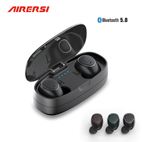 TWS Mini Wireless earphone Bluetooth 5.0 Sports earphone Headphones 3D stereo handsfree Earbuds with mic for iphone xiaomi phone