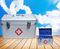 New BBJ1 Free Shipping First Aid Kit Medicine Box Aluminum Alloy Case Medical Home Emergency Kit