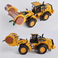 1 50 Grab Wood Machine Toy Alloy ABS Wheel Lifting Trucks Engineering Vehicles Mini Car Toys