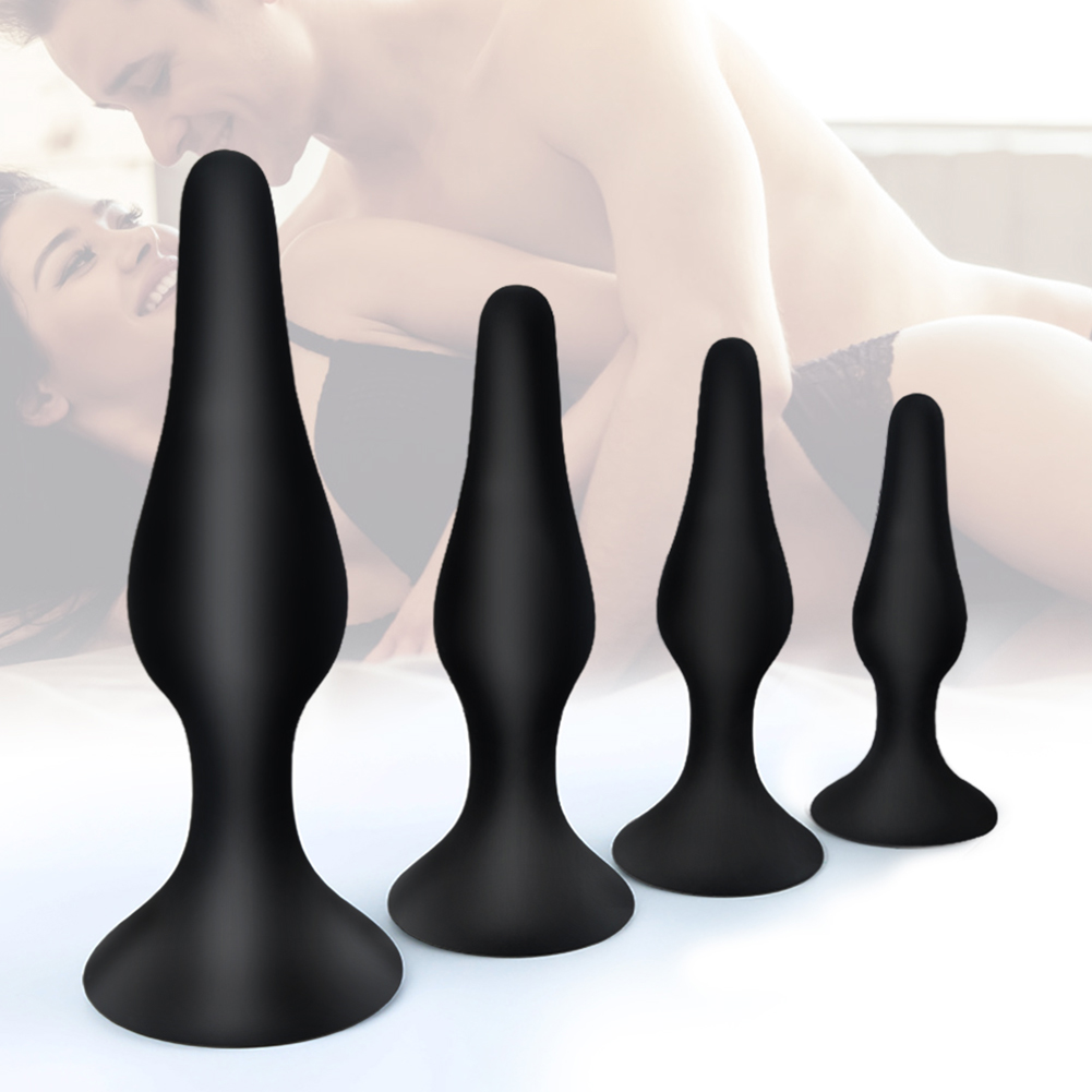 Butt Plug Training Kit <font><b>Anal</b></font> <font><b>Sex</b></font> <font><b>Toy</b></font> <font><b>Set</b></font> with Suction Cup for Safe Hands Free <font><b>Anal</b></font> <font><b>toys</b></font> Vaginal Ass Prostate Massager image