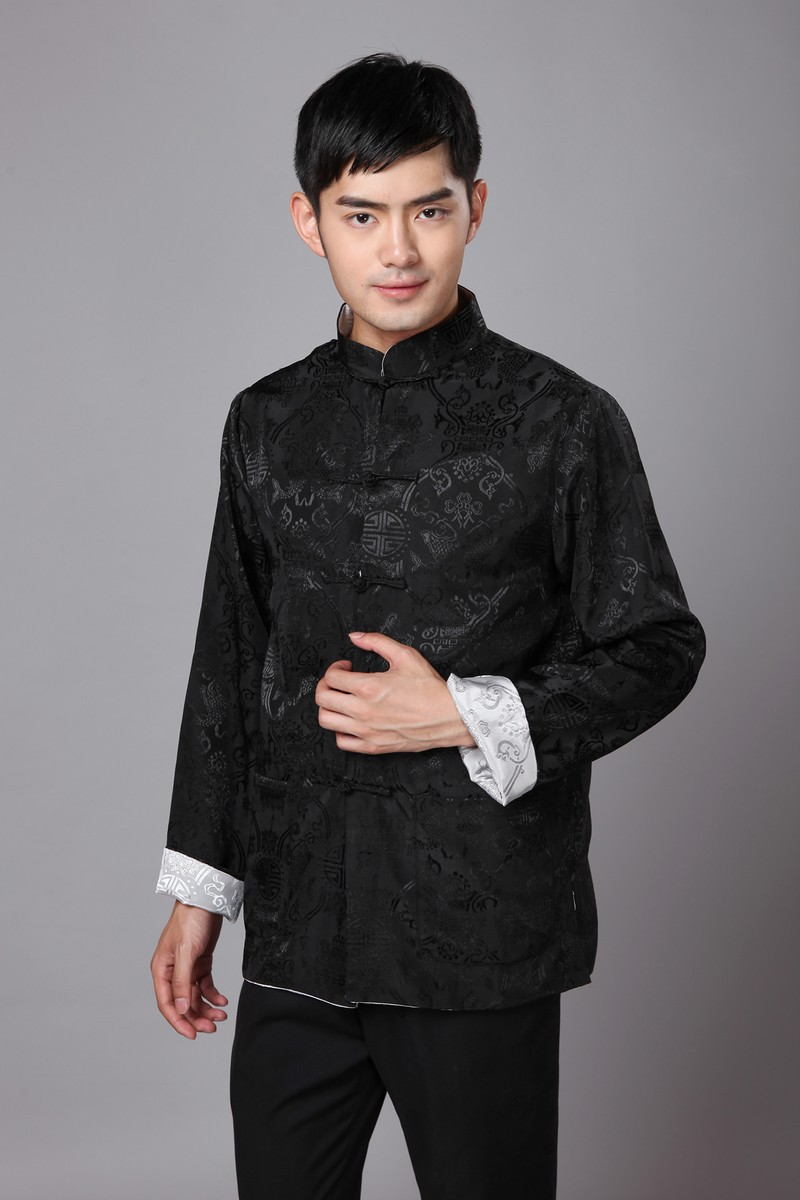 Chinese Traditional Jacket Men 39 s Satin Double Face Coat Size S 3XL in Tops from Novelty amp Special Use