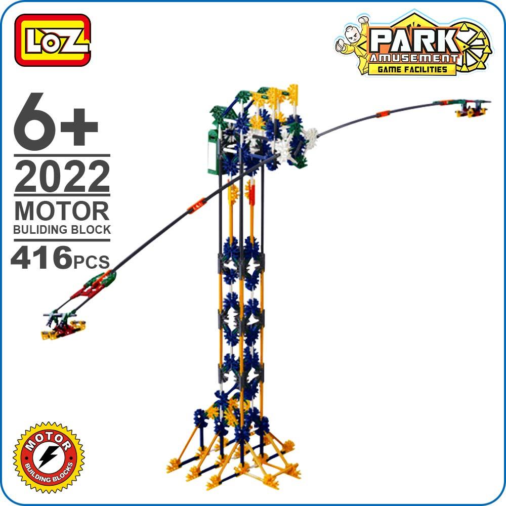 LOZ Blocs Technique Swing Marteau Building Blocks Éclairent Briques Aire de Jeux En Plastique DIY Modèle Cerveau Assembler Jouets Pour Garçon 2022