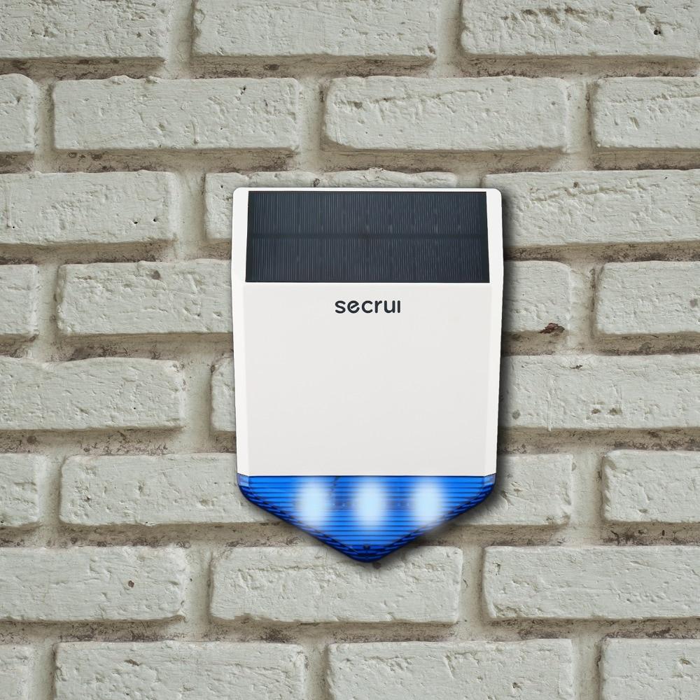 SECRUI J1, Wireless Outdoor Strobe Siren, Home Security Acousto-optic Alarm, Surveillance Signal Alarm System 433mhz wireless voice acousto optic site alarm burglar alarm system