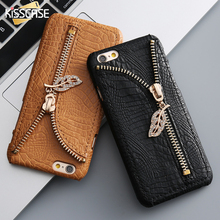 KISSCASE For iPhone 7 Plus 6 6S Plus i5 5S SE Phone Cases Diamond Leather Card Slot Cover For Samsung Galaxy S6 Edge S7 Edge Bag(China)
