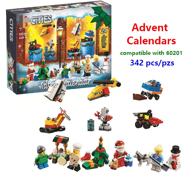 Lego Christmas Set 2019.Us 17 15 47 Off 2019 New Christmas Gift City Advent Calendar Christmas Santa Claus Building Blocks Compatible With Lego 60201 Best Gifts In Blocks