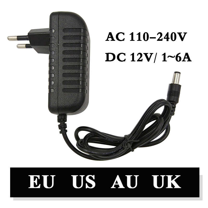 110-240V AC Ke DC Adaptor 12 V 1A 2A 3A 4A 5A 6A Power Adaptor Charger Universal beralih Supply 12 V Lampu LED Strip Plug